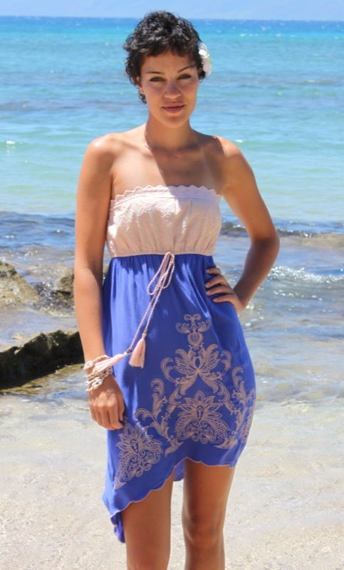 Romantic Strapless Sun Dress