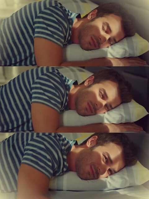 The way  he sleeps