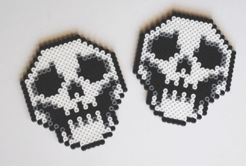 scary skull coasters made by me! :D  etsy|facebook