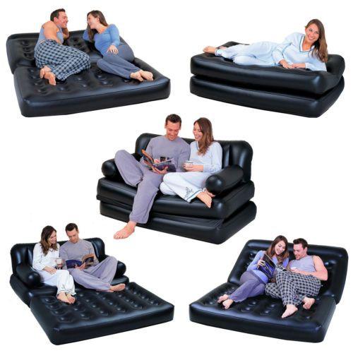 Nuevo-5-en-1-Doble-Inflable-Sofa-Con-Tumbona-colchon-de-la-cama-bolsa-De-Aire-Bomba-amp