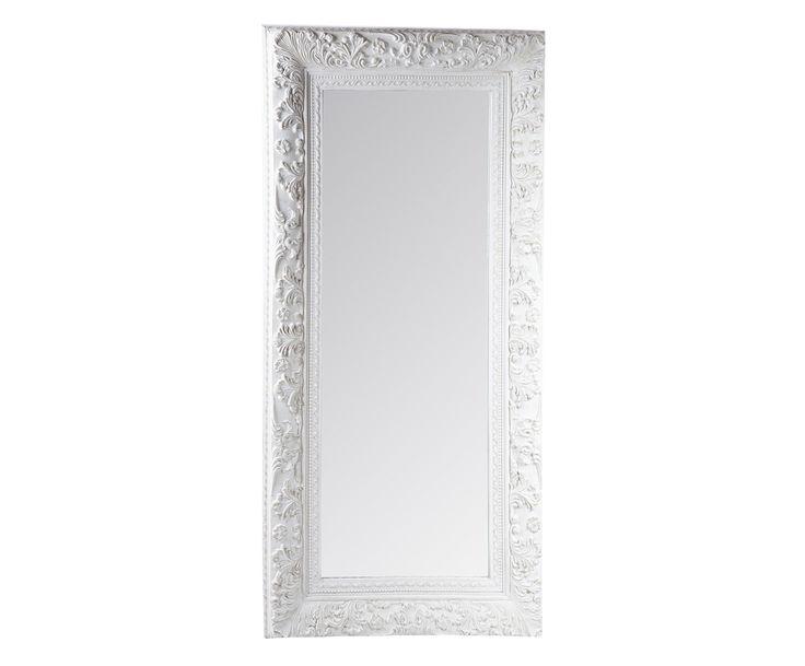 Specchio con cornice in legno Naomi, 90x180 cm