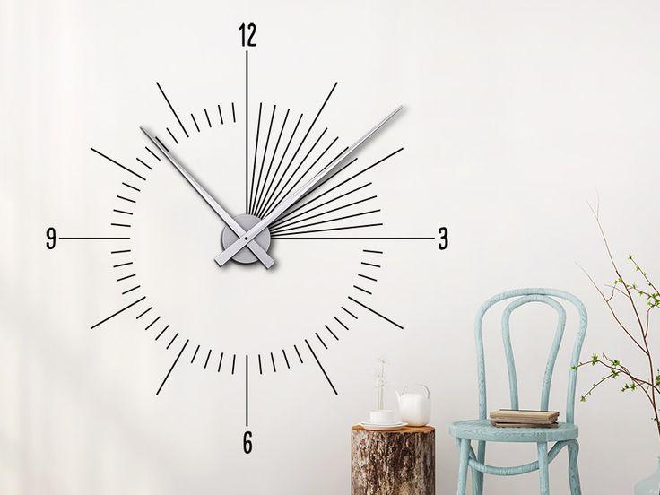 26 besten Wandtattoo Uhren - Wanduhren mit dem gewissen Etwas - moderne wohnzimmer uhren