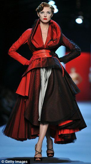 Homage: John Galliano paid tribute to illustrator René Gruau in his latest haute couture collection for Christian Dior.