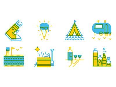 Dribbble - Knack Weekend icons by Thomas Vanhuyse