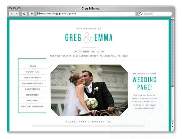 18 best Wedding Websites images on Pinterest