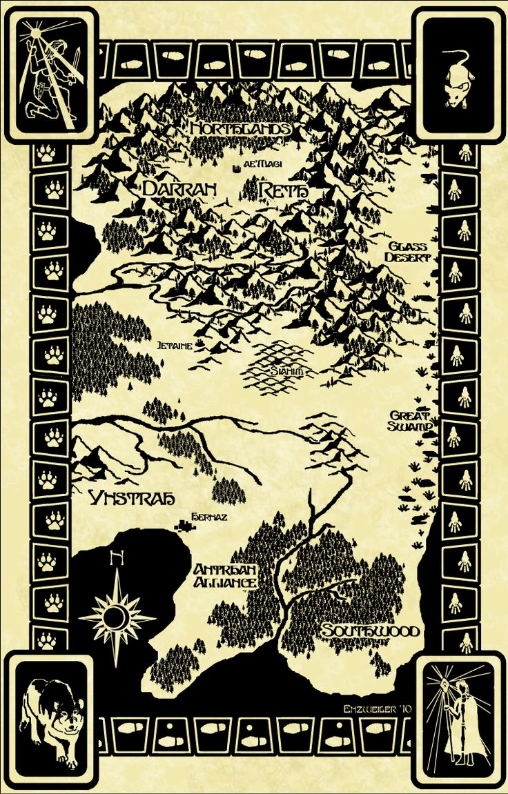 Map For The Sianim Series By Patricia Briggs Map By Michael Enzweiler;  Featured In