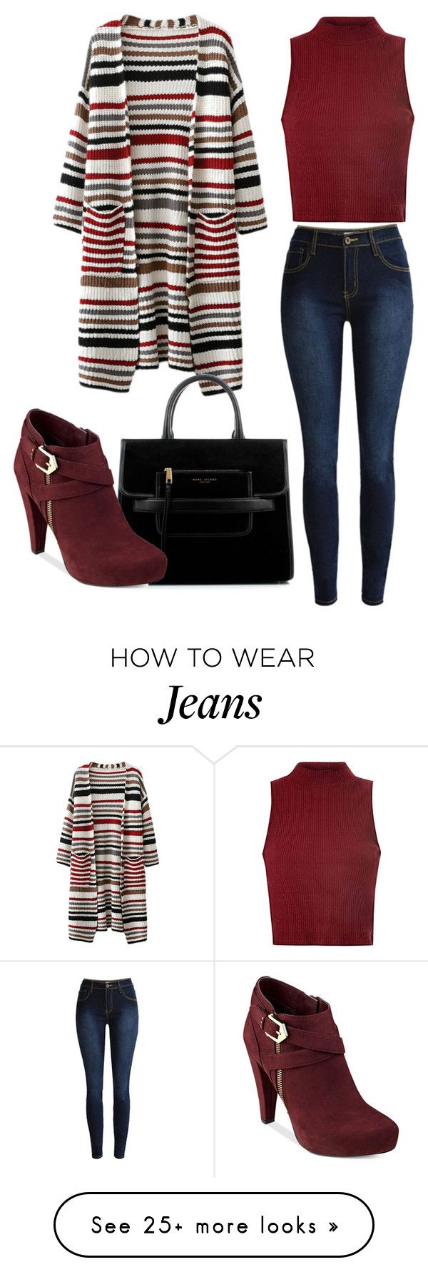 """Jeans for Fall"" by nsta on Polyvore featuring Glamorous, Marc Jacobs and G by Guess"