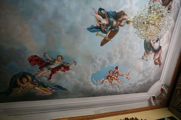 3D decorative &painting ceiling step by step by Joseph A. Youssef.  www.jescoart.gr