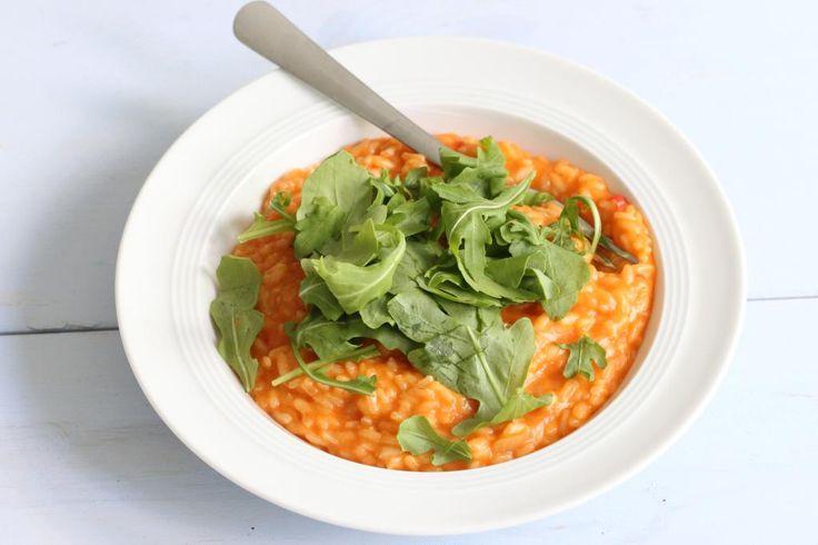 Tomatenrisotto met rucola