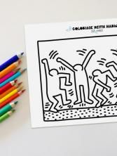 Coloriage Keith Haring : les danceurs