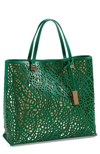'Julia' Perforated Handbag