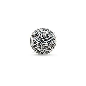 Bead Thomas Sabo Karma Bead Om Blackened Sterling Silver 1.1cm