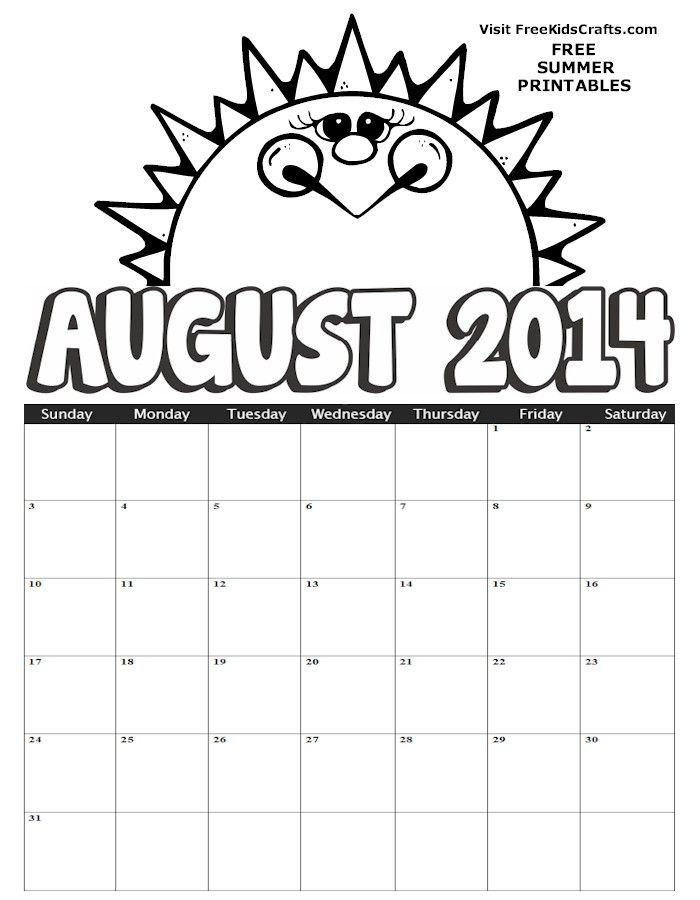 august coloring pages worksheets - photo#30