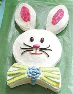 Bunny Cake- remember?: Bunny Cakes, Easter Cakes, Jordans Almonds, Bows Ties, Bunnies Cakes, Round Cakes, Easter Bunnies, Holidays Ideas, Jelly Beans