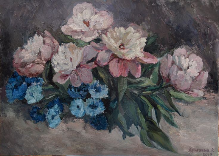 Peonies oil painting by Victoria Duryagina  #peonies #flowerpainting  #floralinspiration #painter #oilpainting