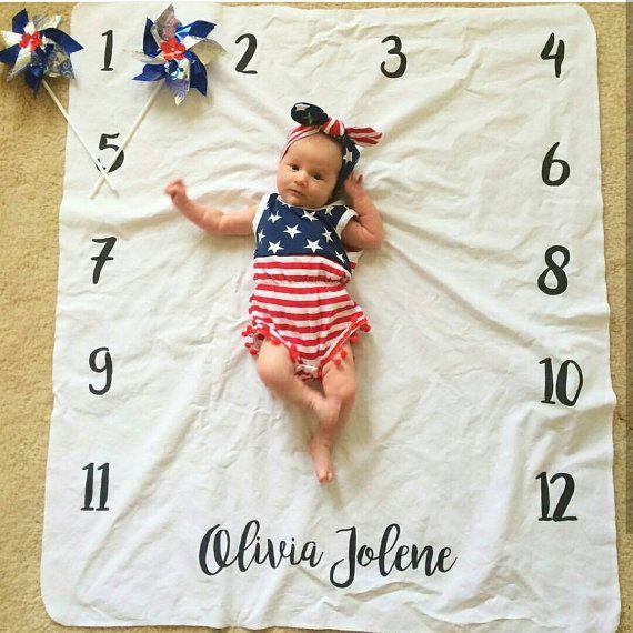 Hitos mensuales personalizados foto babys primer por SewMineDesign