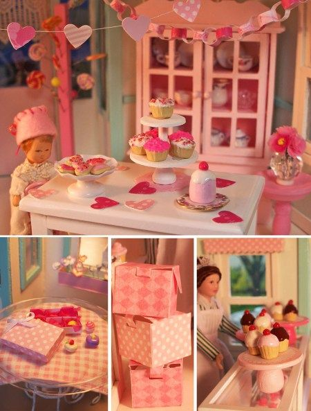 Dollhouse Bakery Decorated for Valentine's Day - 2009
