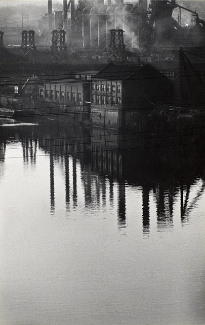 W. Eugene Smith (United States, 1918 - 1978) Factory Reflected In River, 1955-1956, printed 1955-1956 Photograph, Gelatin-silver print, Image: 13 x 8 1/4; Mount: 20 x 16; Mat: 20 x 16 The Marjorie and Leonard Vernon Collection, gift of The Annenberg Foundation and promised gift of Carol Vernon and Robert Turbin (M.2008.40.1988)