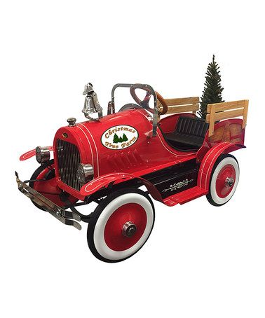 Christmas Tree Delivery Truck Pedal Toy #zulily #zulilyfinds