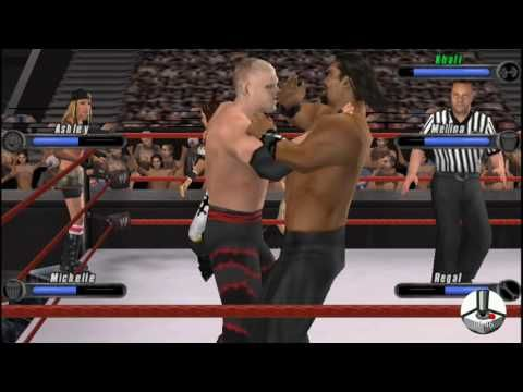 WWE Smackdown vs. Raw 2008: Kane & Ashley & Michelle vs. Khali & Melina & Regal