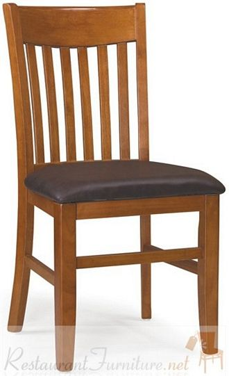 Bon Deco Vertical Slat Chair Heavy Duty Restaurant Grade $78 MOKA Woodlea Comes  In Multiple Stain