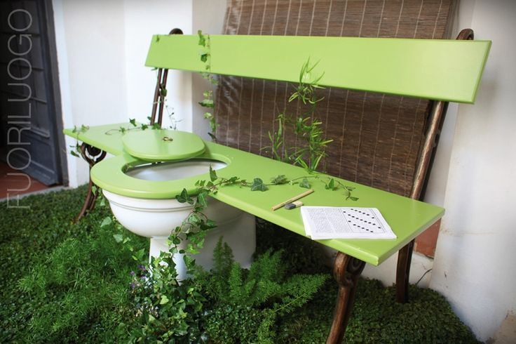 """""""Ecological chair"""" by Renzis Sonnino - ALL RIGHTS RESERVED [Edizione 2010 Fuoriluogo: WChairs] #art #wc #toilet #bidet"""