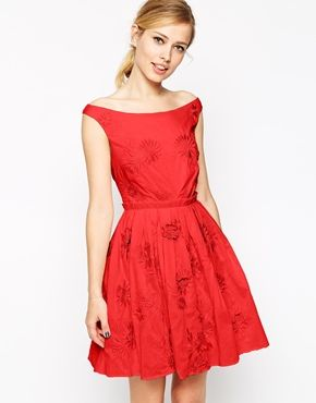 ASOS+Prom+Dress+With+Floral+Embroidery the perfect Christmas dress