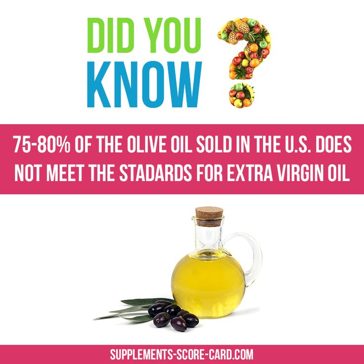 75-80% of the olive oil sold in the U.S. does not meet the standards for extra…