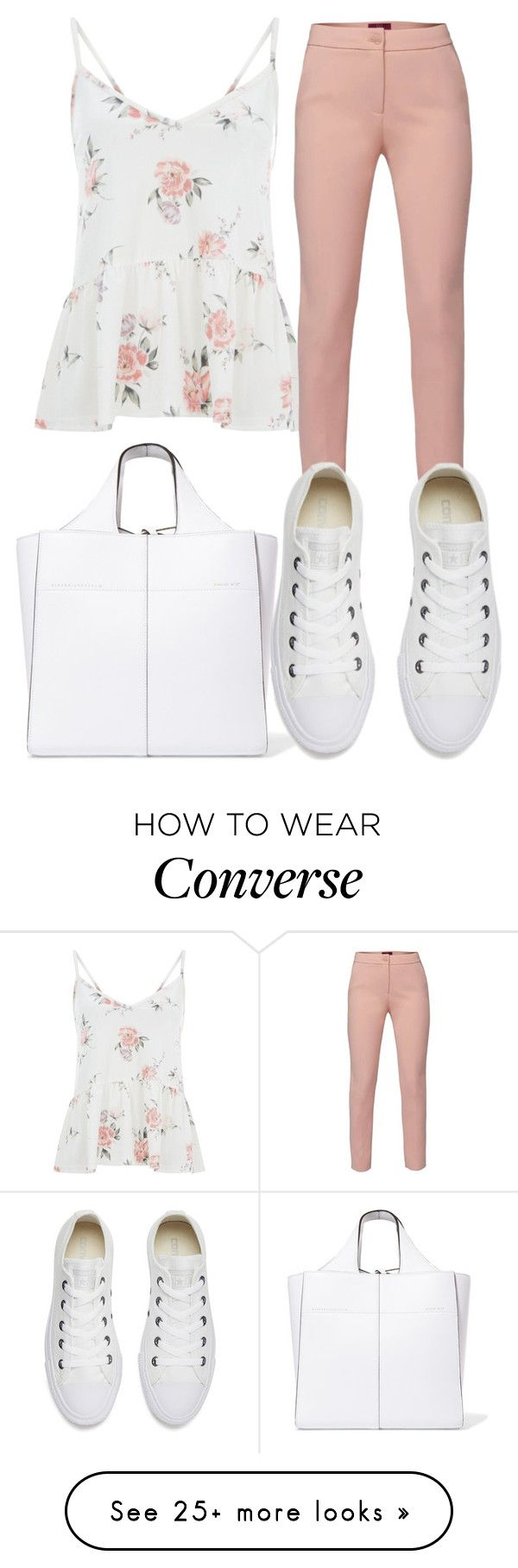 """""""White"""" by beliebers-188 on Polyvore featuring Victoria Beckham, WtR and Converse"""