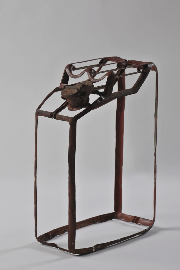 """""""jerrican"""" by Coste Martin in De Canvascollectie / La Collection RTBF on http://gallery2012.canvas.be/sculptuur-sculpture/jerrican/"""