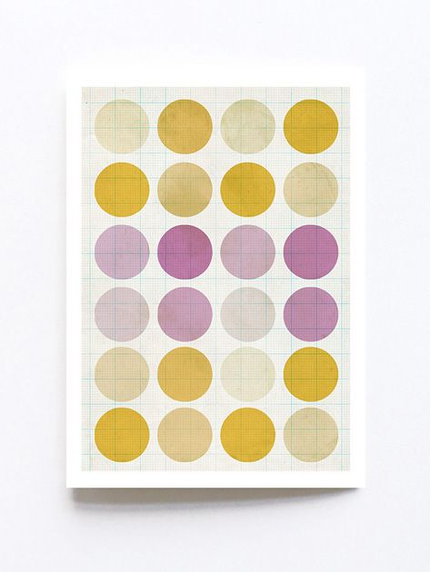 Greeting card by Sophie Klerk, 'yellow + pink*