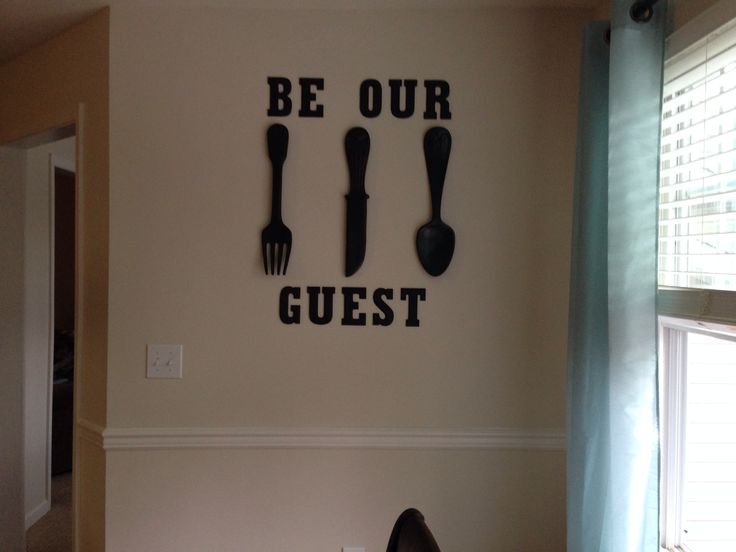 Dinning room wall decoration with a little Disney flare :)