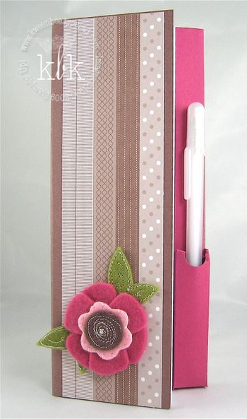 Sweet Pea Notebook - Stampin' Up!