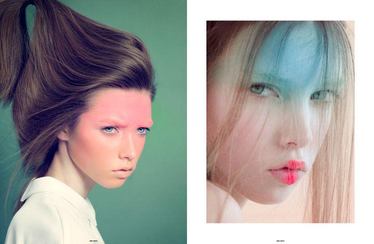 visages colorés de la petite fille japonaise | The Ones2Watch