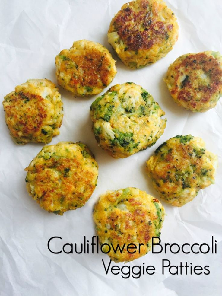 Cauliflower Broccoli Veggie Patties. A great healthy and super nutritious meatless alternative for lunch and dinner. So tasty and delicious!