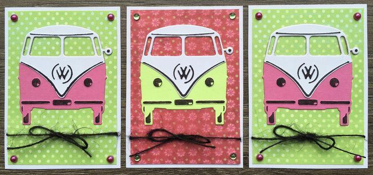 LindaCrea: ATC's #8 - VW-busje