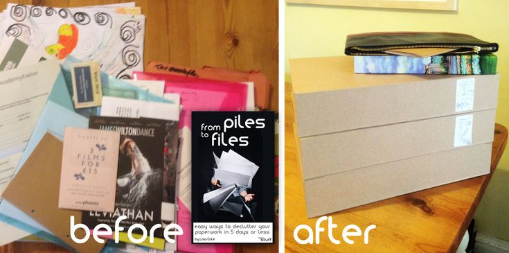 From Piles to Files - the painless paperwork decluttering book