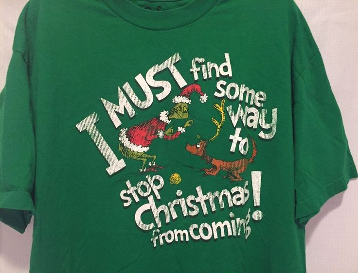 DR SEUS MOVIE T SHIRT STOP CHRISTMAS From Coming THE GRINCH T SHIRT XLARGE Green #HybridTees #GraphicTee