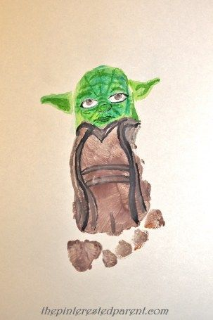 17 best images about hand and footprints kids on for Star wars arts and crafts