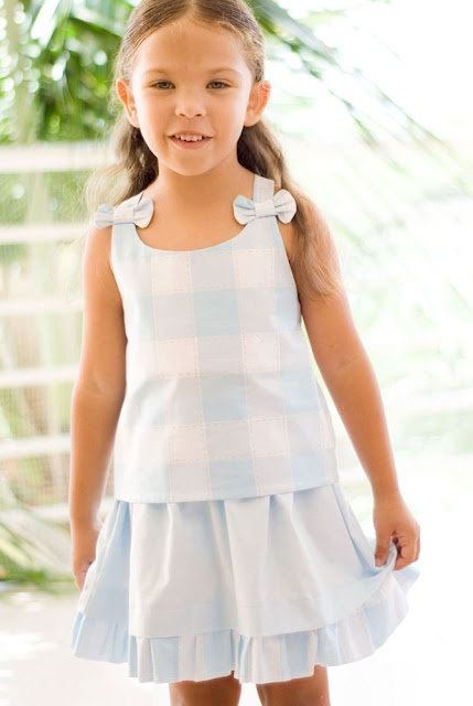 Tutorial and pattern: top and skirt for a 5 year old.
