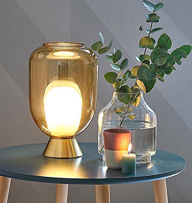 Lampe A Poser Laiton Et Double Verre Bumble Laiton La Redoute Interieurs La Redoute Mason Jar Lamp Jar Lamp Novelty Lamp