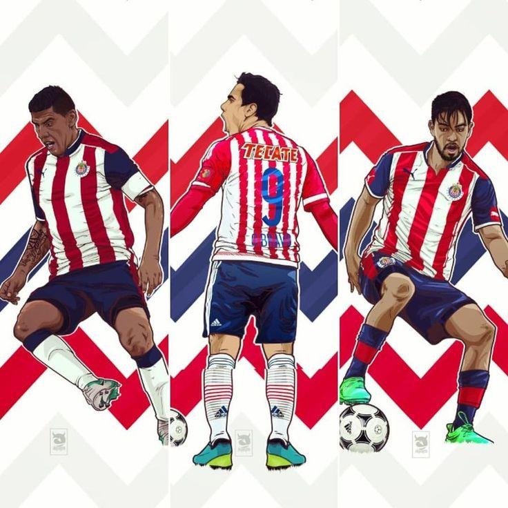 Chivas Pack Salcido Bravo y Pizarro by akyanyme.deviantart.com on @DeviantArt