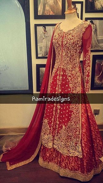 @shabistoronto A Perfect Red Lehanga by @ramiradesigns