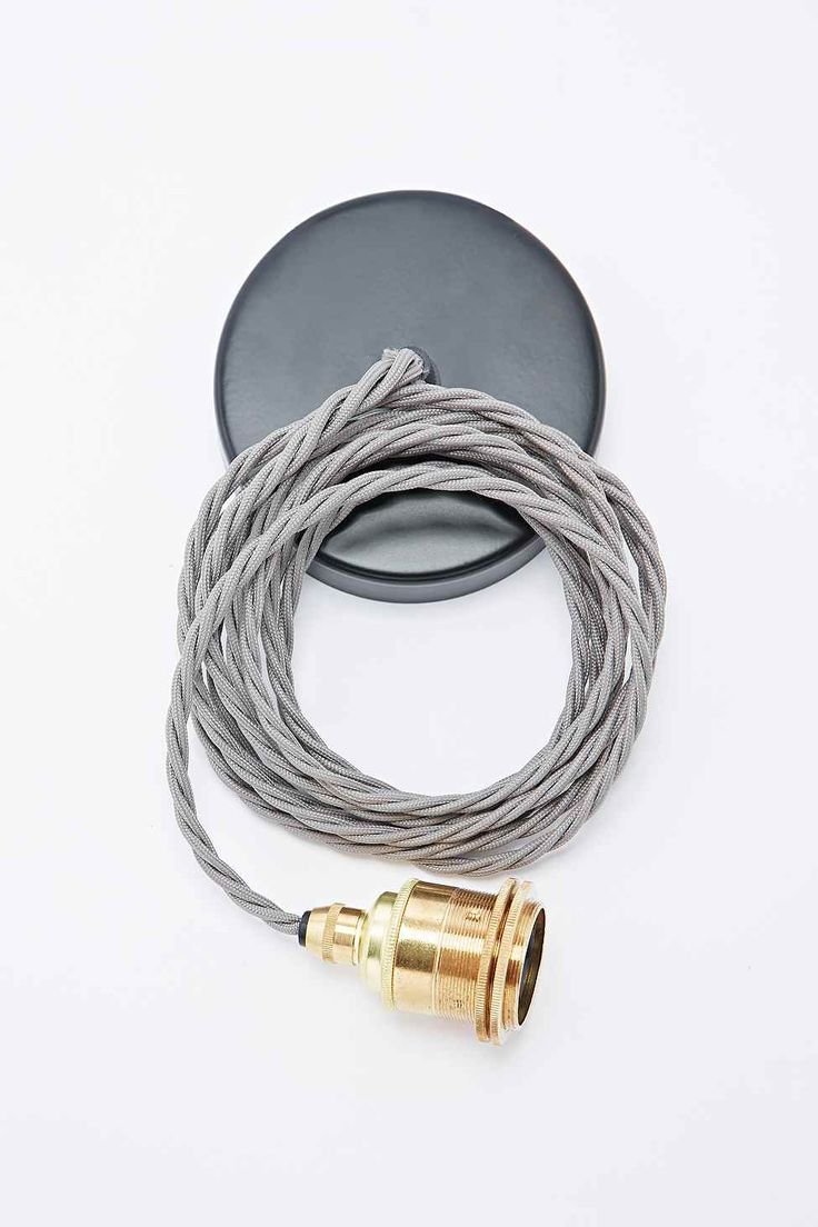 Nook London Edison Pendant Set in Brass and Grey