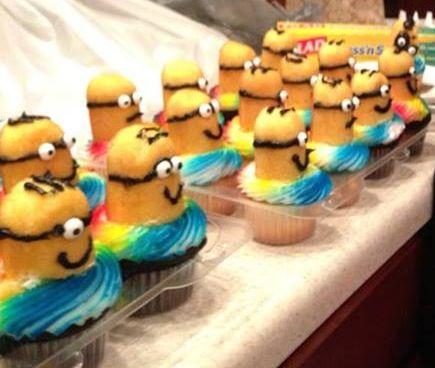 Minions Twinkie Cupcakes......