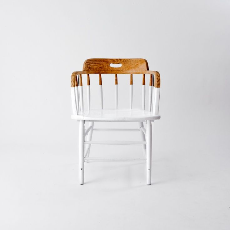 3/4 painted chair.