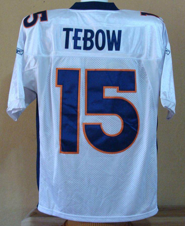 tim tebow 15 denver broncos nfl football jersey size 50 mens shirt ebay