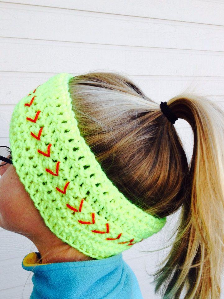 Softball+Headwrap+Softball+Headband+Softball+Ear+by+SoftballStitch,+$13.49