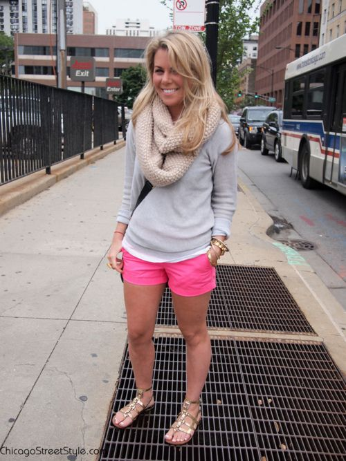 Neon Pink Shorts    (inspiration for wearing my new shorts.)