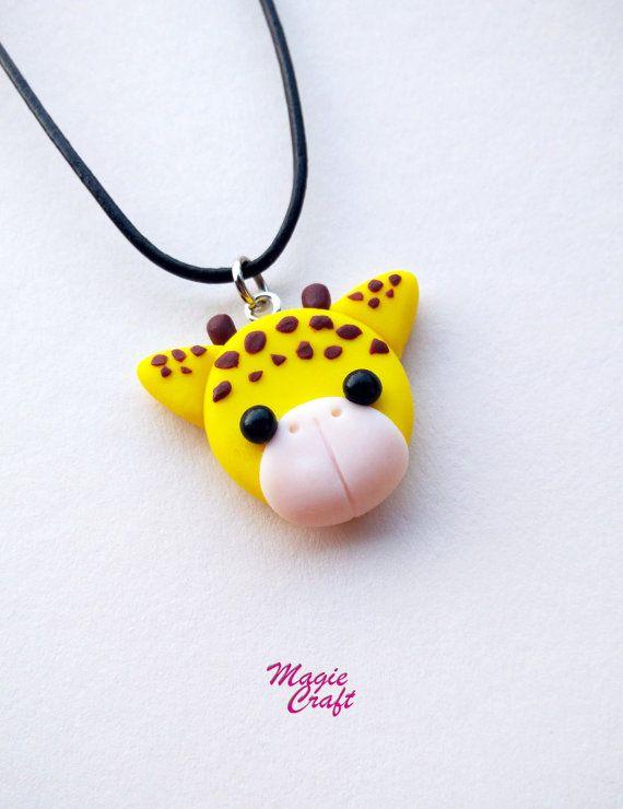 Collana Giraffa in Fimo di MagieCraft su Etsy